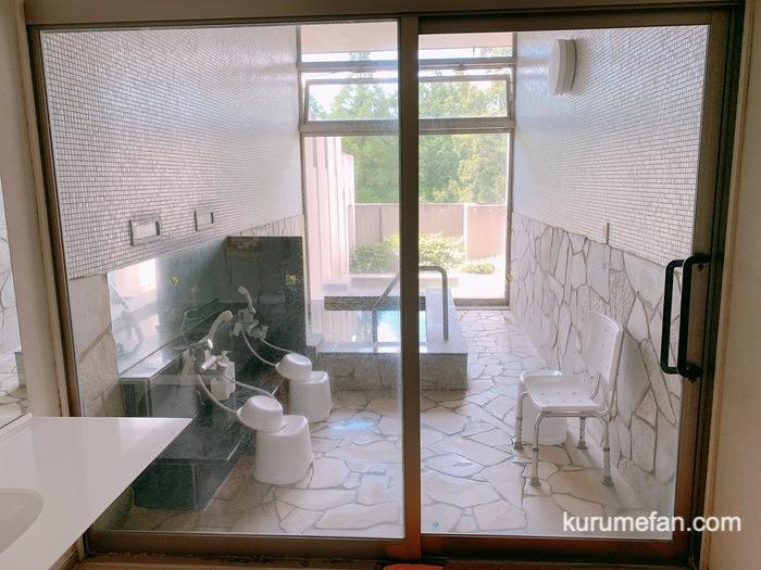 黒木温泉 くつろぎの湯 和風家族風呂(かえで)内風呂と露天風呂
