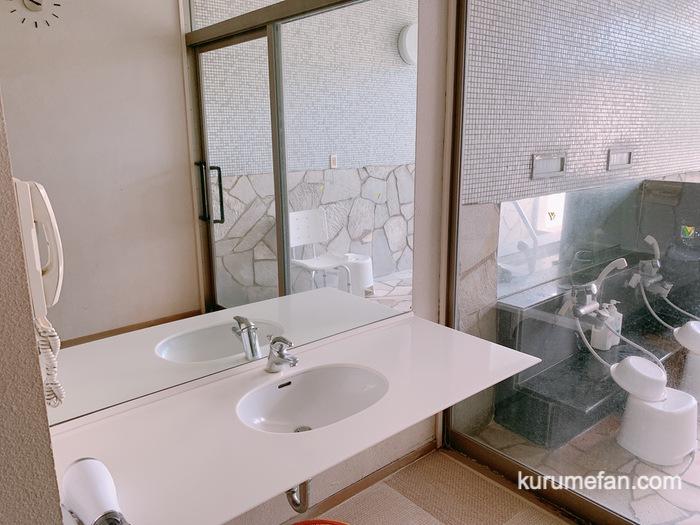 黒木温泉 くつろぎの湯  家族風呂かえで 洗面所・脱衣所