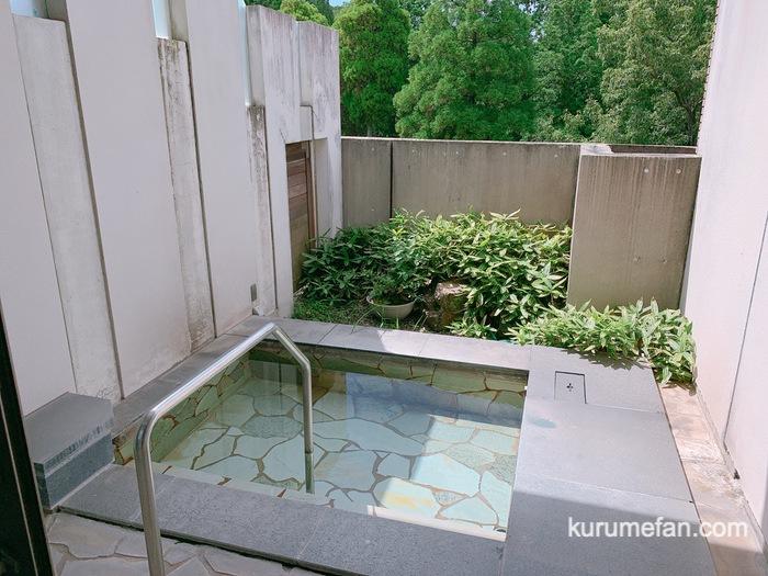 黒木温泉 くつろぎの湯  家族風呂かえで 露天風呂