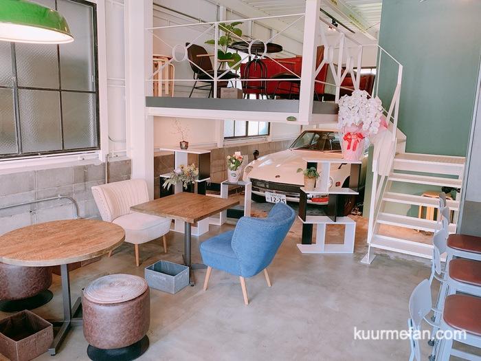 KURUMEジェラートカフェ(久留米ジェラートカフェ)スタイリッシュな店内