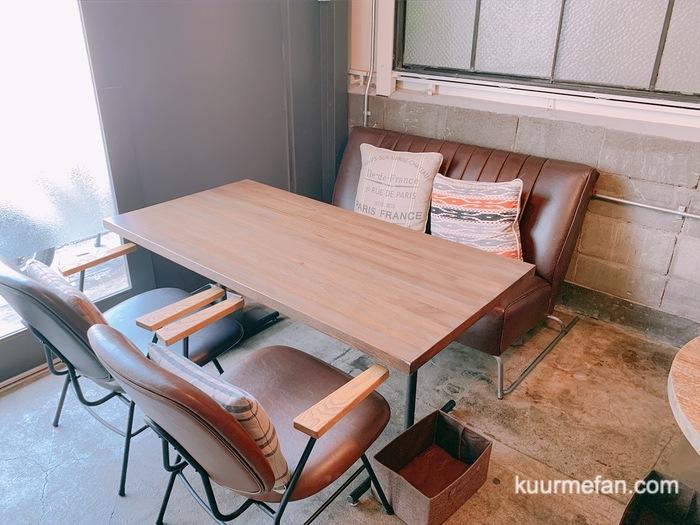 KURUMEジェラートカフェ(久留米ジェラートカフェ)店内 席数