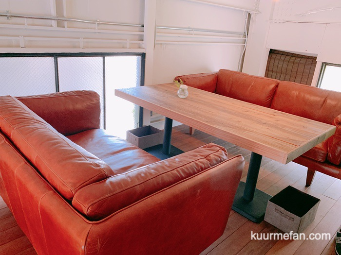KURUMEジェラートカフェ(久留米ジェラートカフェ)2階の店内