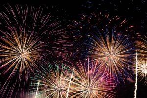 久留米市北野町「赤司八幡宮放生会奉納花火大会」約2000発の花火