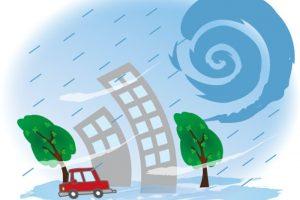 久留米市 台風8号の影響により暴風警報・雷注意報