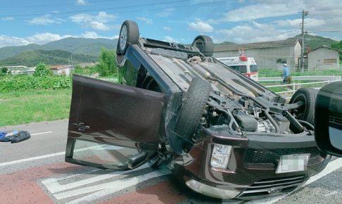 鳥栖市村田町で衝突事故 車が横転し片側通行に【事故情報】