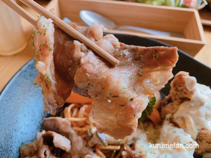 九重高原定食 焼肉定食 薄切りカルビ