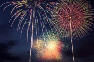 第5回 八女のまつり 光と音楽の花火大会 30分間で2,000発の花火