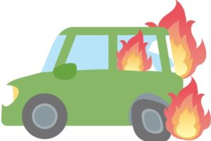 久留米市北野町大城 ぽっかぽかの湯 北東側付近で車両火災【火事情報】