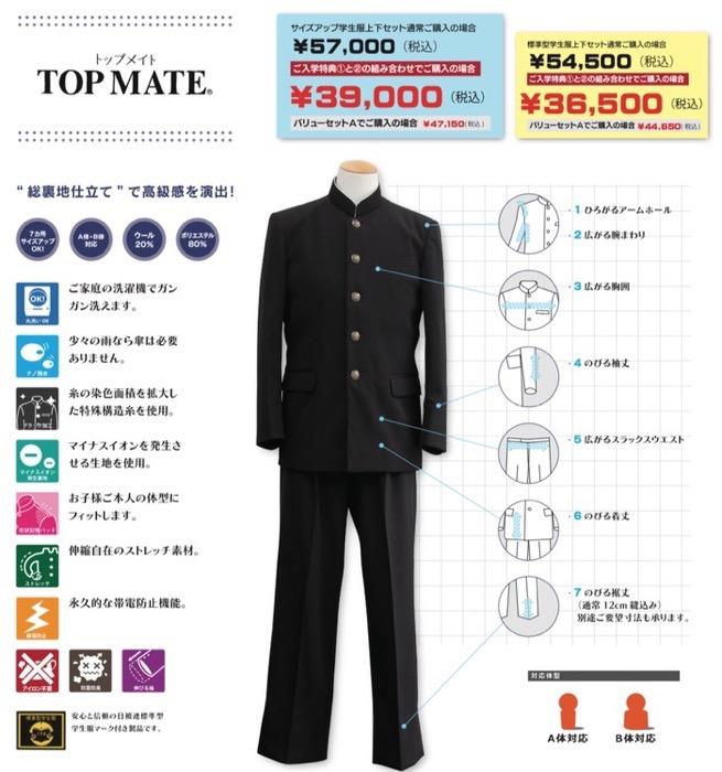 マルヒロ 学生服 トップメイト(TOP MATE)