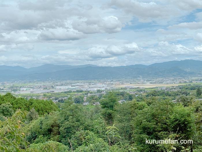 みのう山荘 絶景!筑後平野の風景を見渡すことができる