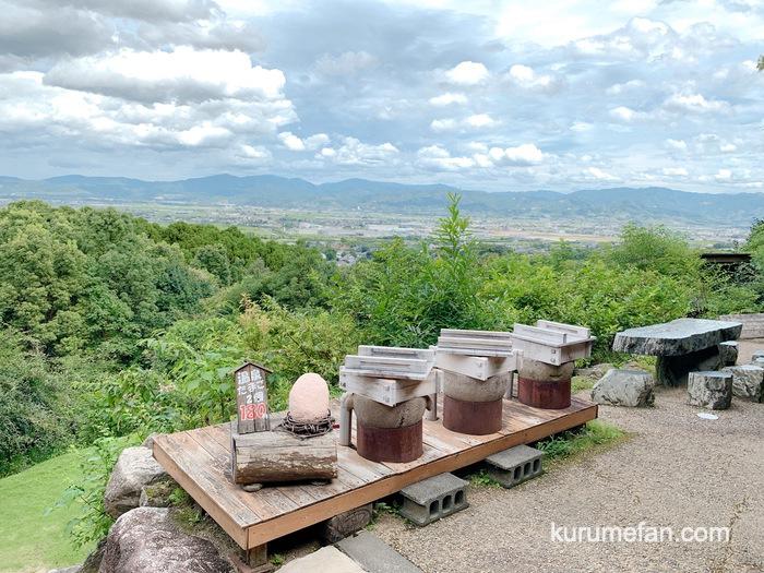 みのう山荘 田園風景が広がる筑後平野の大パノラマの絶景
