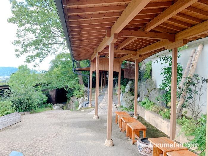 みのう山荘 家族風呂への通路
