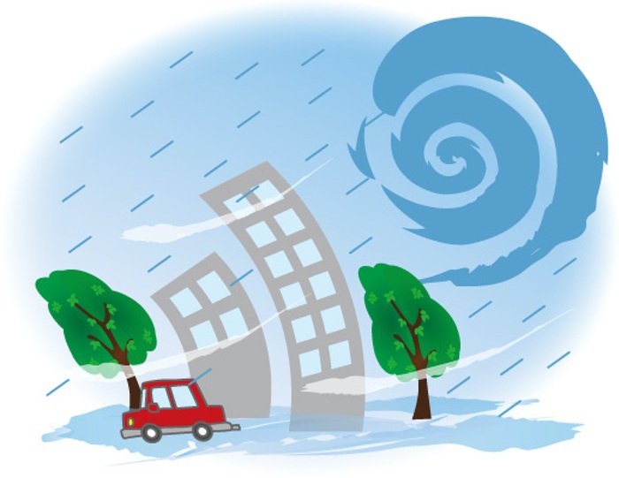 台風17号 猛烈な強風 久留米市・筑後地方の一部で一時停電も