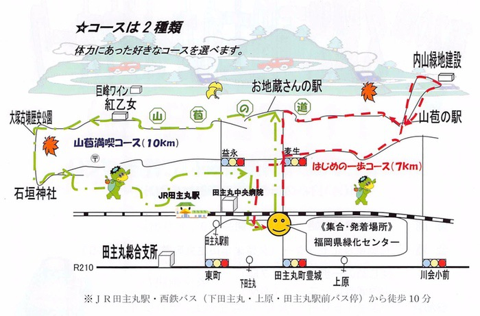 第20回 久留米市田主丸かっぱウオーク コース