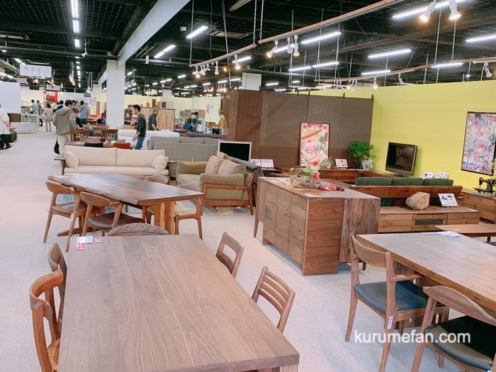 大川木工まつり 大川産業会館 たくさんの高品質な家具