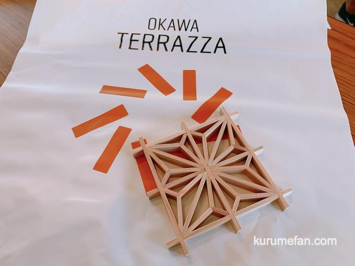 大川木工まつり おもてなし広場 組子制作 完成