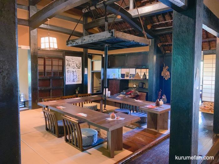 水縄茶寮(みのうさりょう)囲炉裏や土間 昔ながら趣深い店内