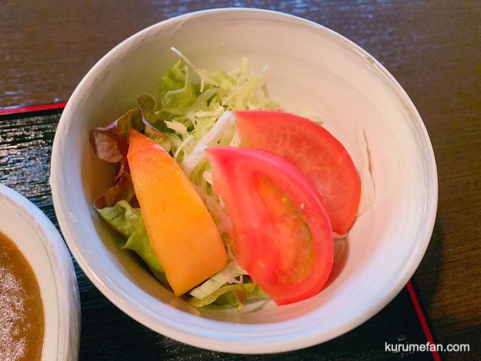 水縄茶寮(みのうさりょう)馬肉カレー サラダ