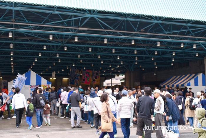 久留米市 市場祭り 水産棟 たくさんの来場者