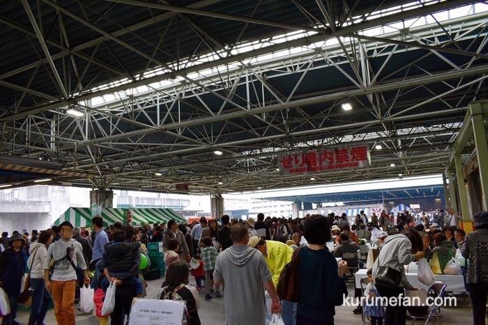 久留米市 市場祭り たくさんの来場者