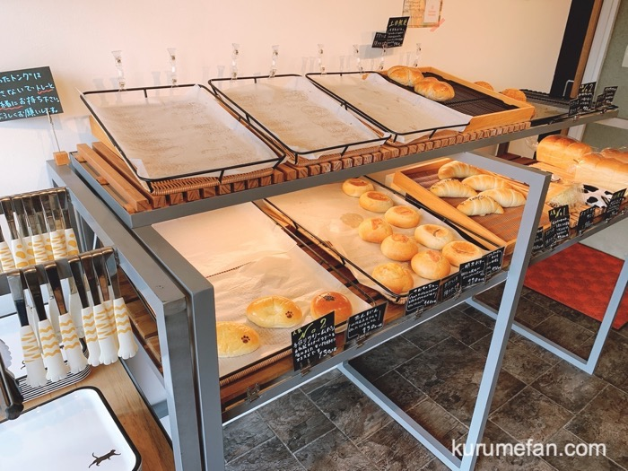久留米市 江戸やしきパン工房 小さな店内