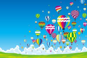 2019 吉野ヶ里ウィンターバルーンフェスタ 約30機の熱気球の競技