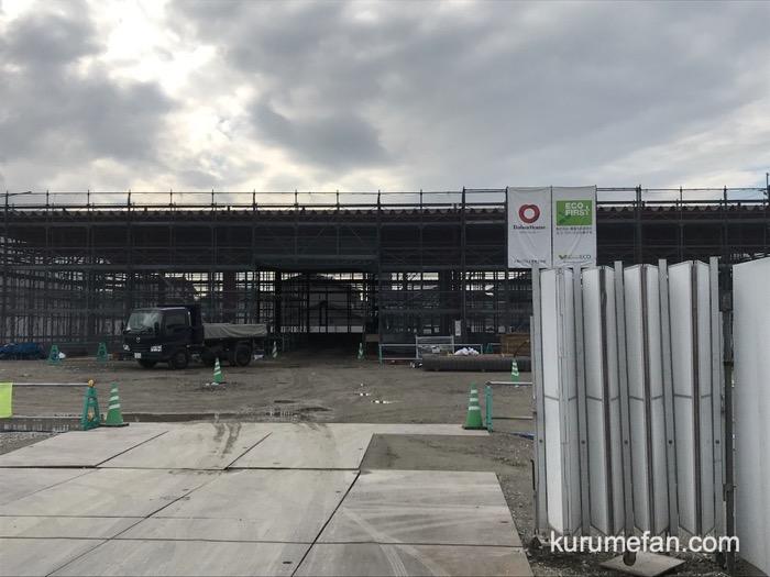 (仮称)ホンダカーズ博多U-select久留米店 店舗建設中