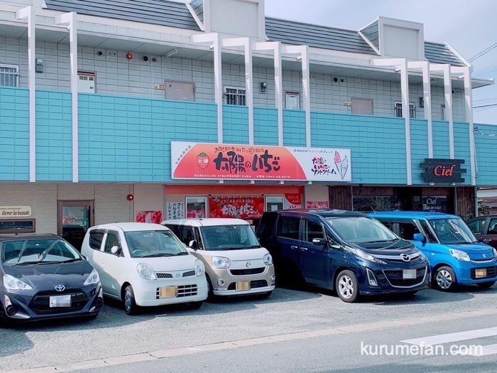 太陽のいちご 店舗前に駐車場3台あり