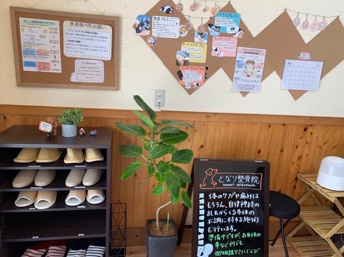 久留米市 となり整骨院 カフェのような落ち着いた雰囲気の院内