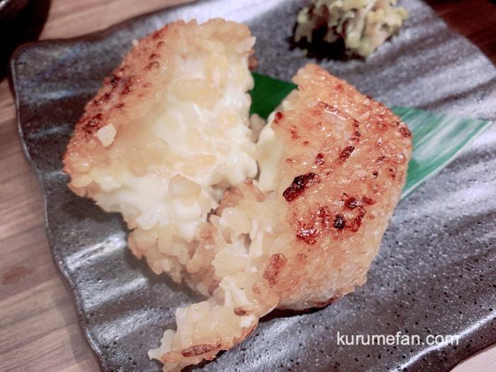 とりかわ博多かわっこ 久留米店 チーズ in 焼きおにぎり