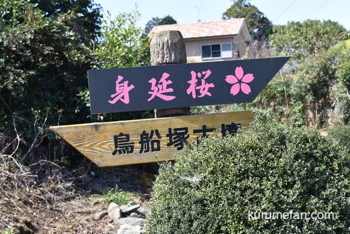 うきは市 法華原華庭園「身延のしだれ桜」の場所