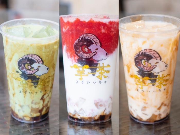 台湾黒糖タピオカ専門店 羊一茶(よういっちゃ)新商品「わらび餅ドリンク」メニュー