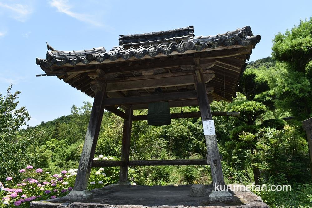 久留米市 千光寺の有形文化財の梵鐘(ぼんしょう)