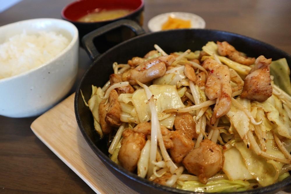 岐阜県名物鶏ちゃん焼き定食