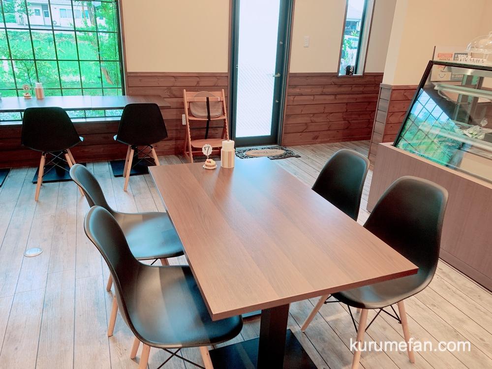 フルトリエ カフェ カウンター席とテーブル席