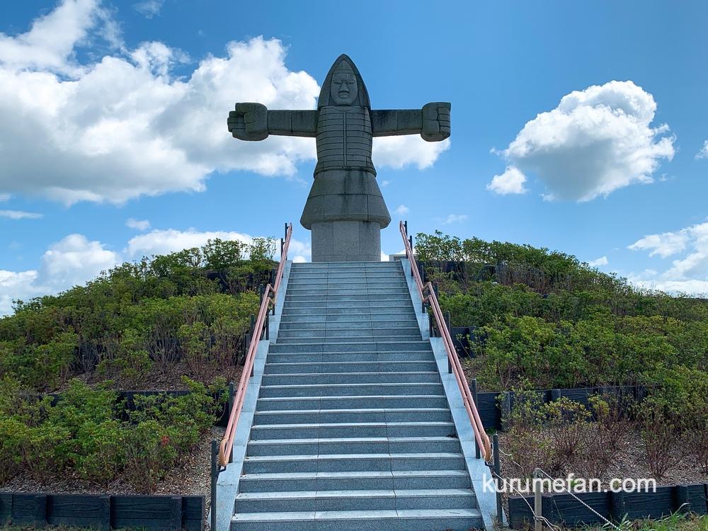 筑紫石人 筑後広域公園公園のモニュメント