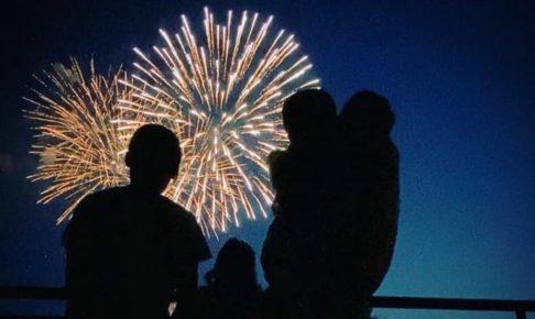 今日、10月15日 19時30分に古賀市で花火打上!花火のライブ配信も