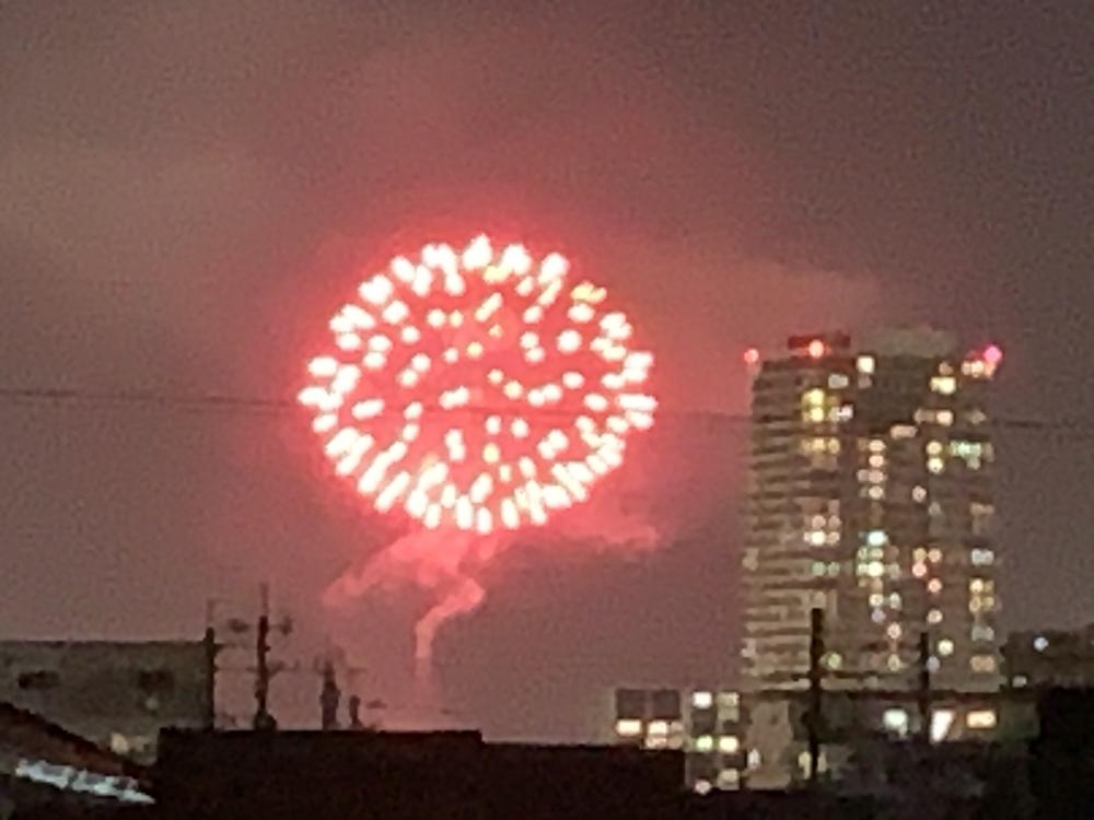 2020年10月26日 久留米市 筑後川河川敷で花火が上がってる!