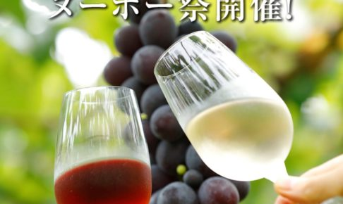 巨峰ヌーボー祭り 2020年産ヌーヴォー販売!ワインくじも【久留米市田主丸町】