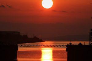 福岡県大牟田市「光の航路」期間限定!世界遺産の三池港から見える絶景