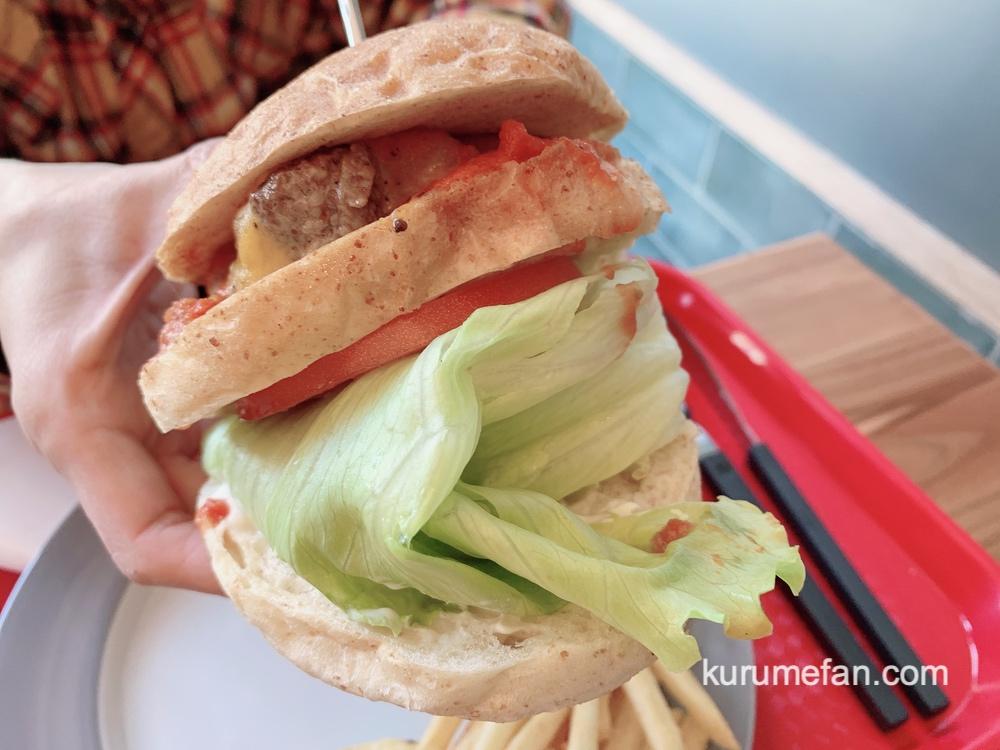 久留米市 P-BURGER(ピーバーガー)美味しいチーズバーガー