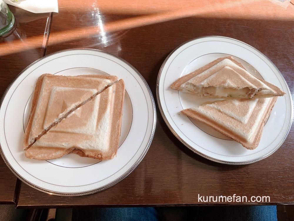pousser suikoyen(プセ萃香園)ホットサンド 照り焼きチキンチーズとチキンカツ