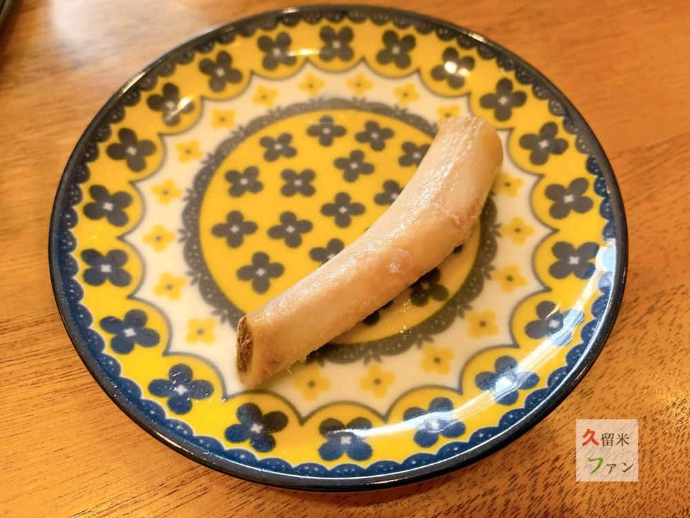 沖縄そば 北谷亭(ちゃたんてい)久留米市安武町 ソーキの骨