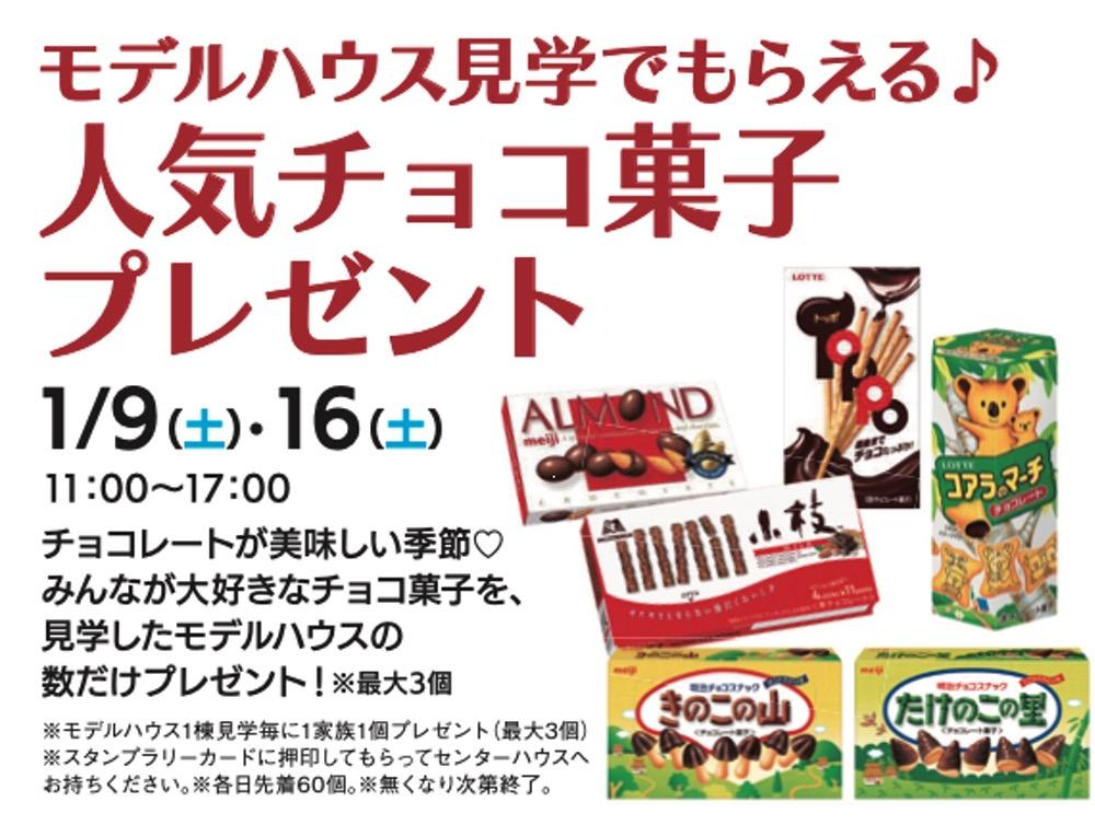 hit新春フェスタ デルハウス見学でもらえる♪『人気チョコ菓子プレゼント』