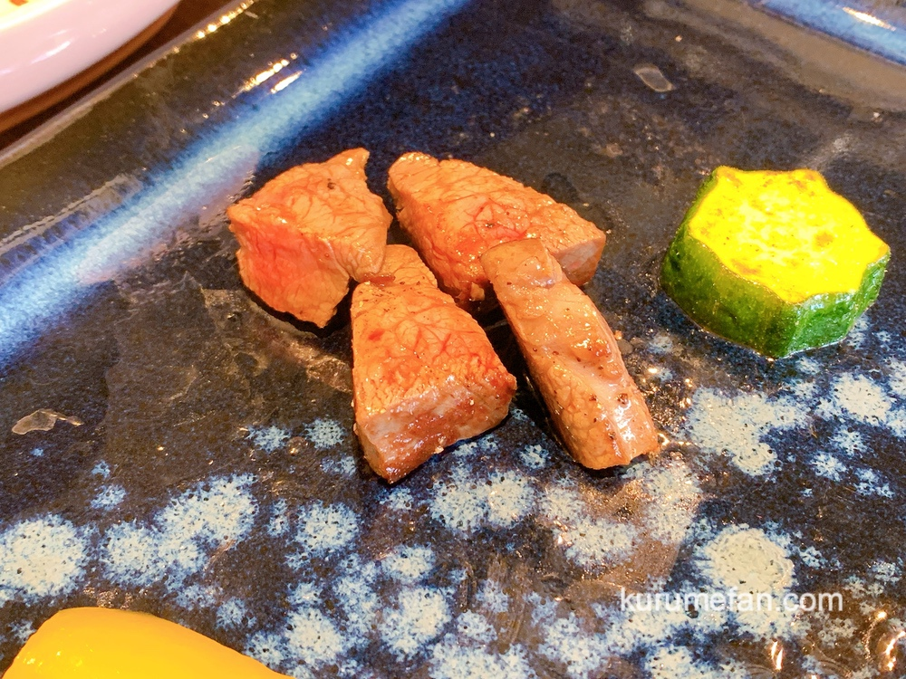 神様の宝石でできた料理店 壱岐牛肉尽くしコース ステーキ
