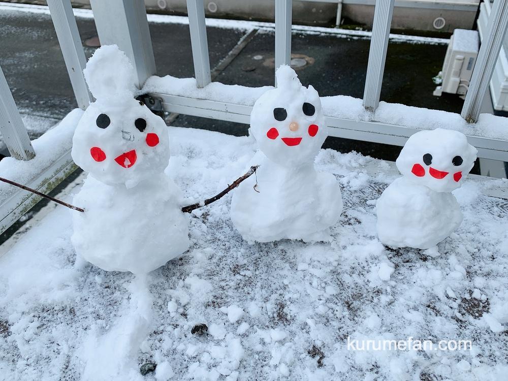 久留米市 大晦日 雪だるま