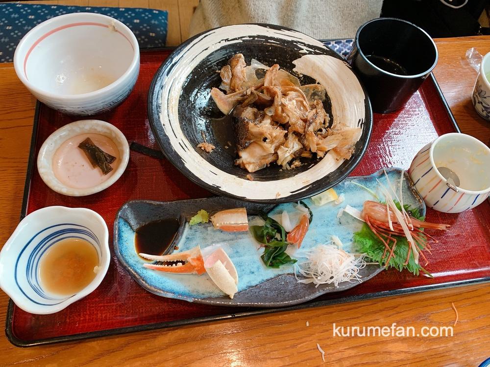 海鮮料理あご屋「本日の煮魚とお刺身の御膳」ごちそうさまでした