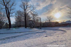 久留米市 今日も雪景色!雪積もる!みやま柳川IC〜福岡ICなど通行止めに