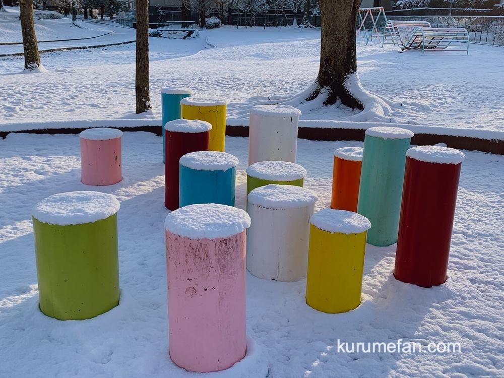 久留米市 今日も雪景色【2021年1月9日】