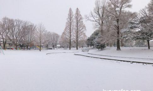久留米市 一面、雪景色!大雪・低温注意報 雪による通行止めも【注意】